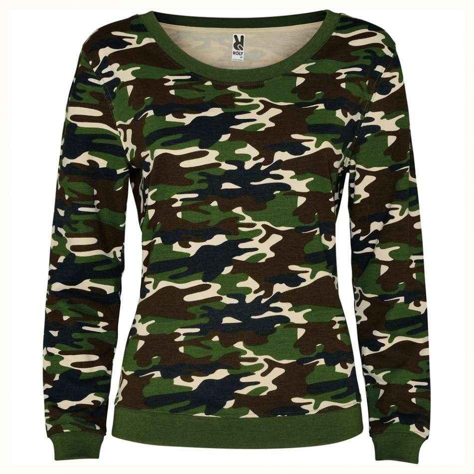 Kamuflážové dámské tričko s dlouhým rukávem 19K