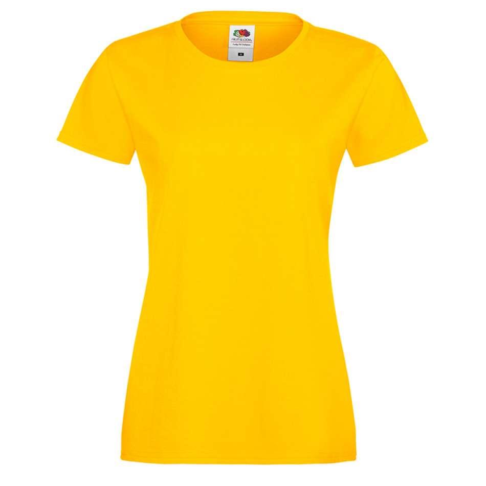 Žluté dámské triko 1Y