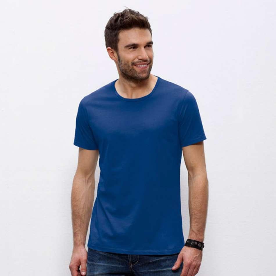 Modré pánské triko 100% Bio bavlna 4S