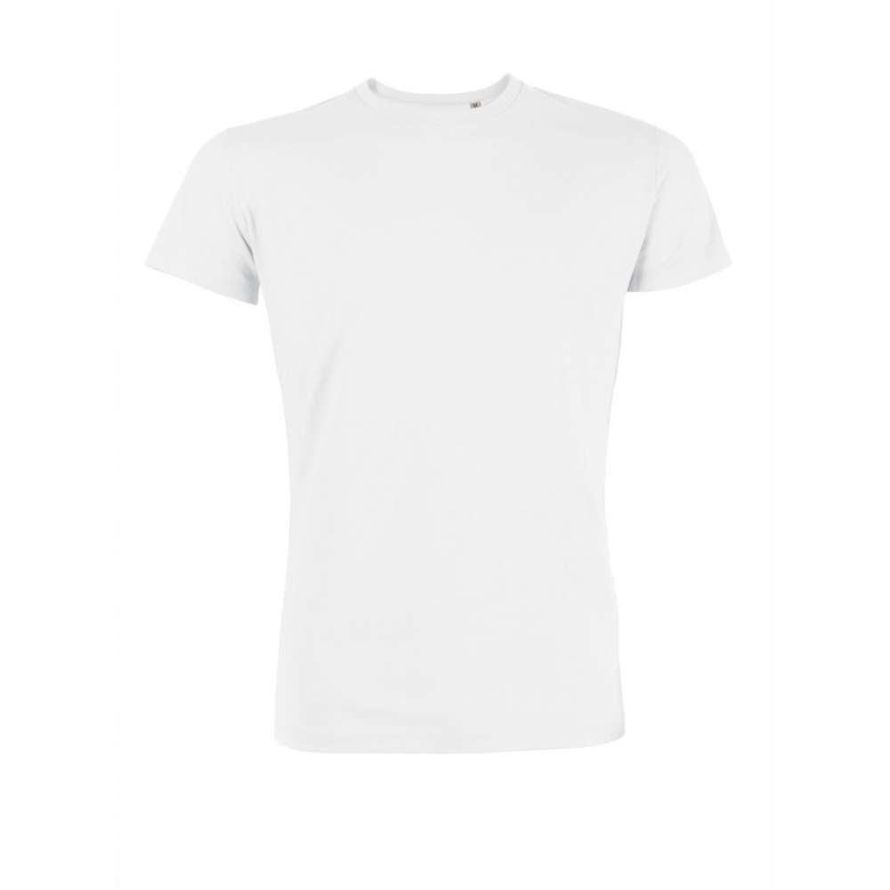 Bílé pánské triko 100% Bio bavlna 4W