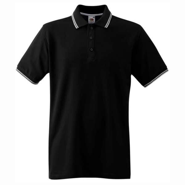 Pánské tričko Polo z 100% bavlny v černé a bílé barvě