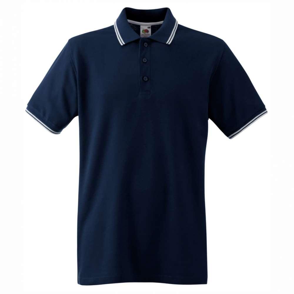Pánské tričko Polo z 100% bavlny v tmavě modré a bílé barvě