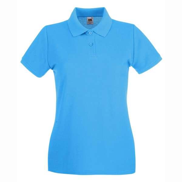 Dámske 100% bavlnené polokošeľa v modro-modrej farbe