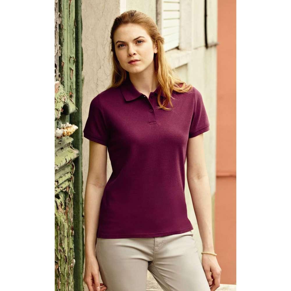 Dámske 100% bavlnené polokošeľa vo farbe burgundskej farby