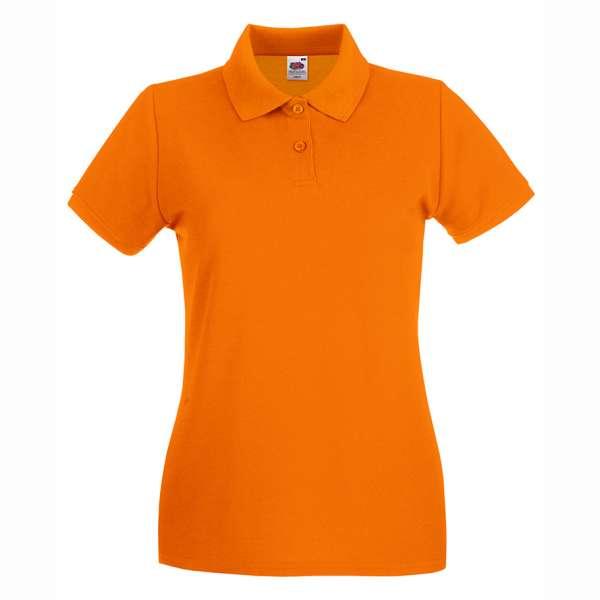 Dámske 100% bavlnené polokošeľa v oranžovej farbe