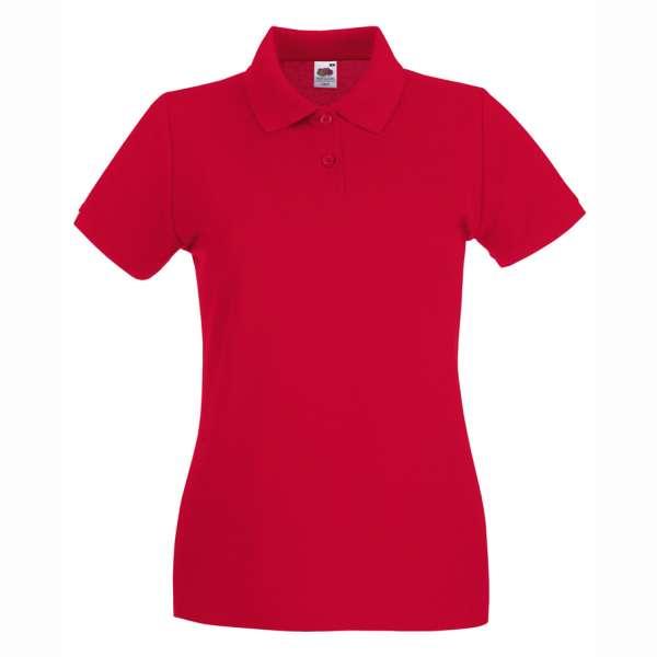Dámske 100% bavlnené polokošeľa v červenej farbe