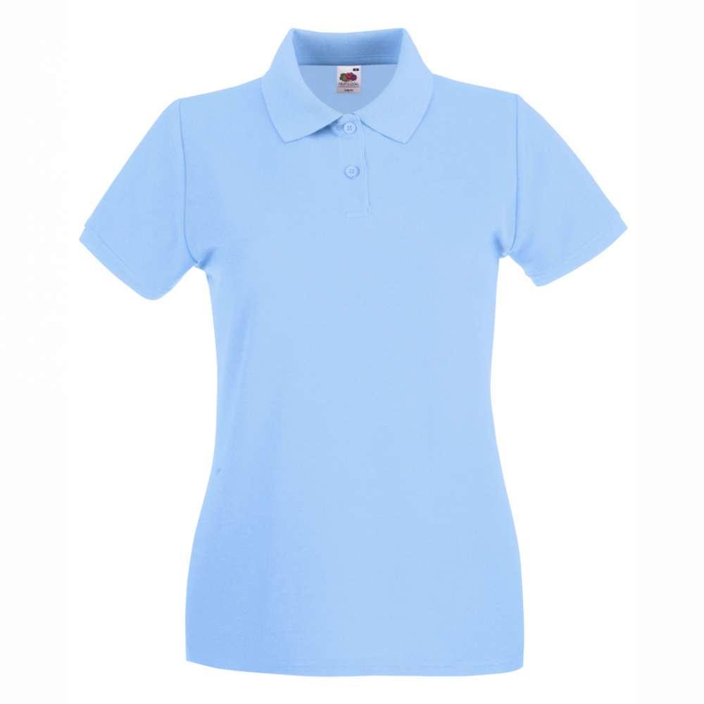 eaf9da278ca8 Dámske 100% bavlnené polokošeľa v modrej farbe - POLO147-SB ...