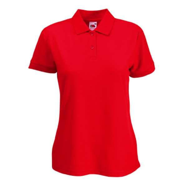 Dámske tričko z bavlny a polyester v červenej farbe