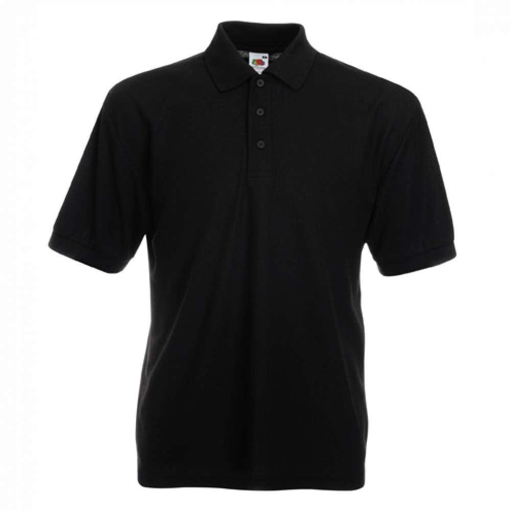 Tričko pánske Polo s bavlnou a polyesterom v čiernom