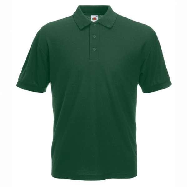 Tričko pánske Polo s bavlnou a polyesterom v tmavo zelenej farbe