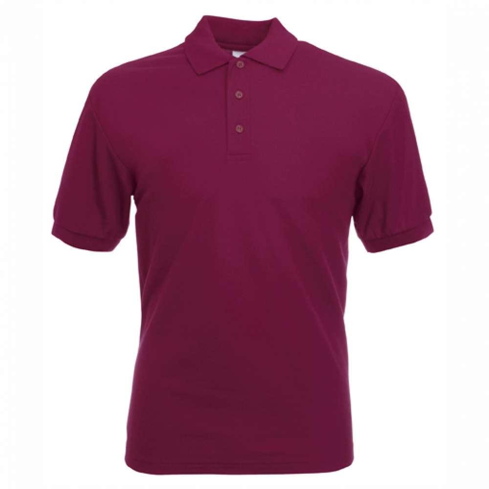 Tričko pánske Polo s bavlnou a polyesterom vo farbe burgundskej farby
