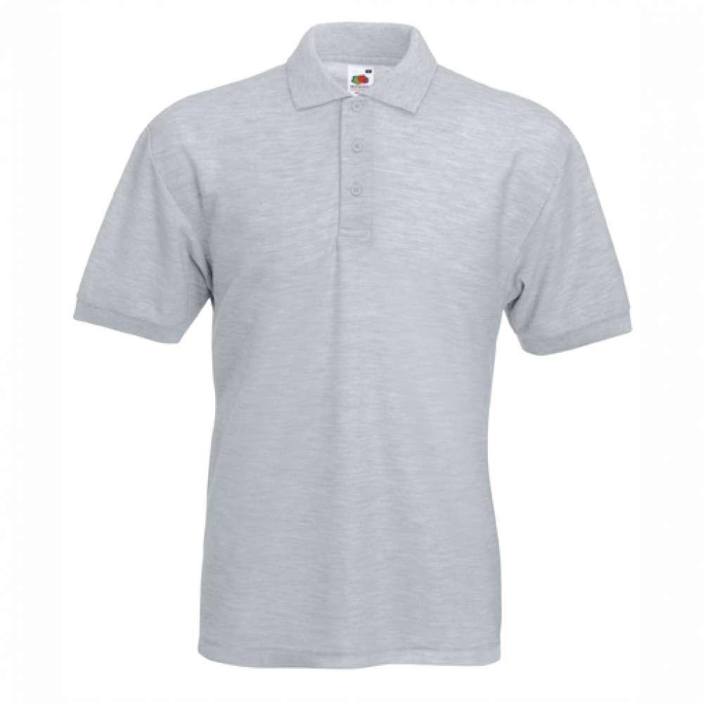 Tričko pánske Polo s bavlnou a polyesterom v šedej farbe