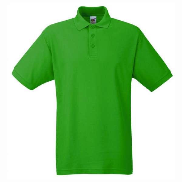 Tričko pánske Polo s bavlnou a polyesterom v zelenom