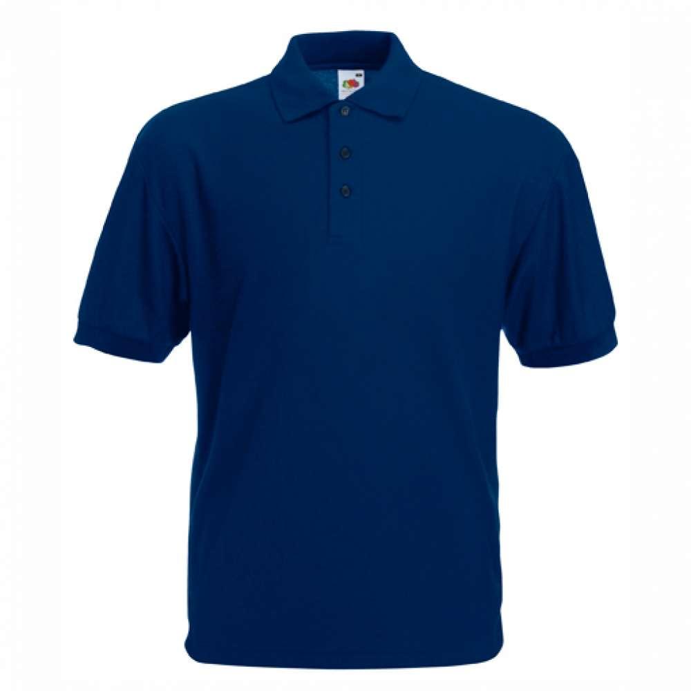 Tričko pánske Polo s bavlnou a polyesterom v tmavo modrej farbe