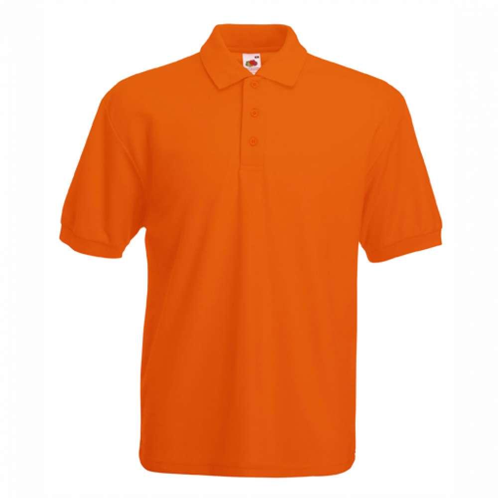 Tričko pánske Polo s bavlnou a polyesterom v oranžovej farbe
