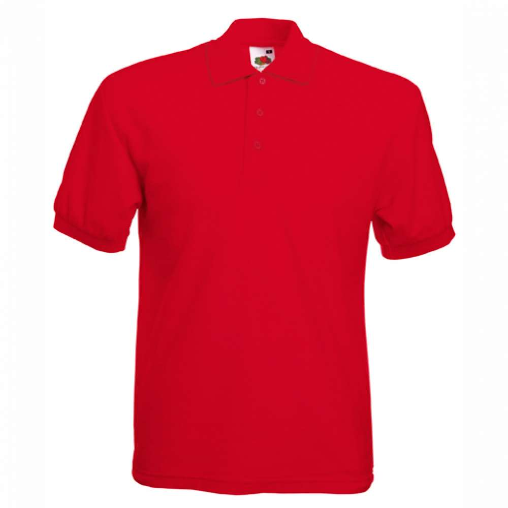 Tričko pánske Polo z 100% bavlny v červenej farbe