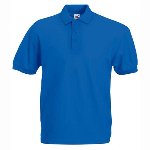 Tričko pánske Polo s bavlnou a polyesterom v modrej farbe