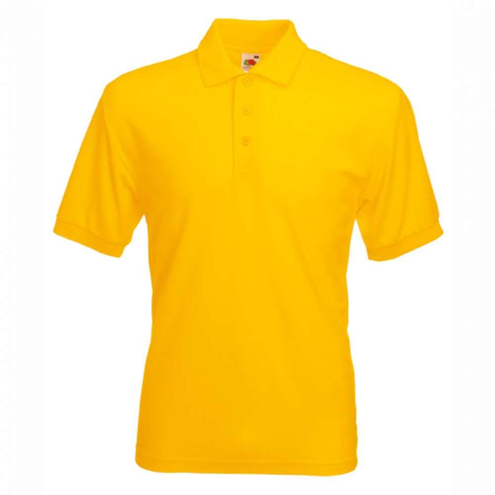 Tričko pánske Polo s bavlnou a polyesterom v žltej farbe