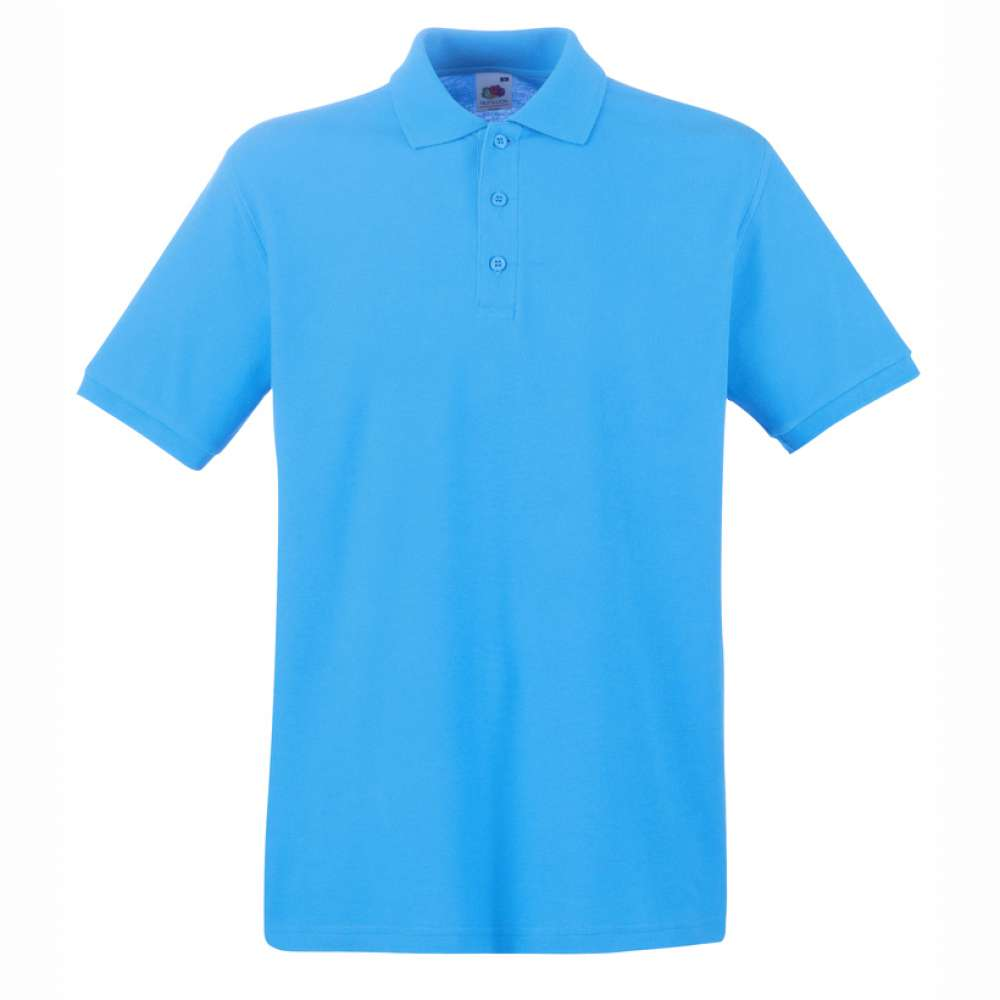 Tričko pánske Polo z 100% bavlny v modrej farbe