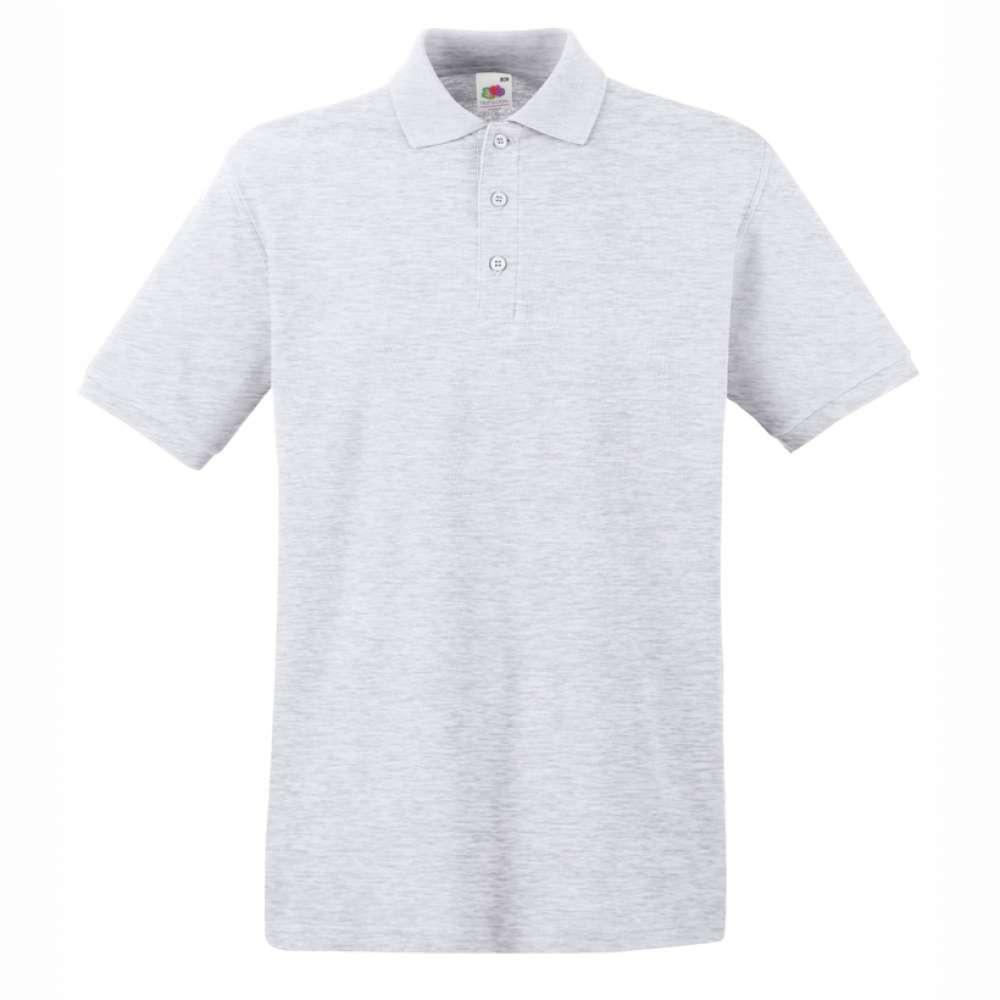 Tričko pánske Polo z 100% bavlny v šedej farbe