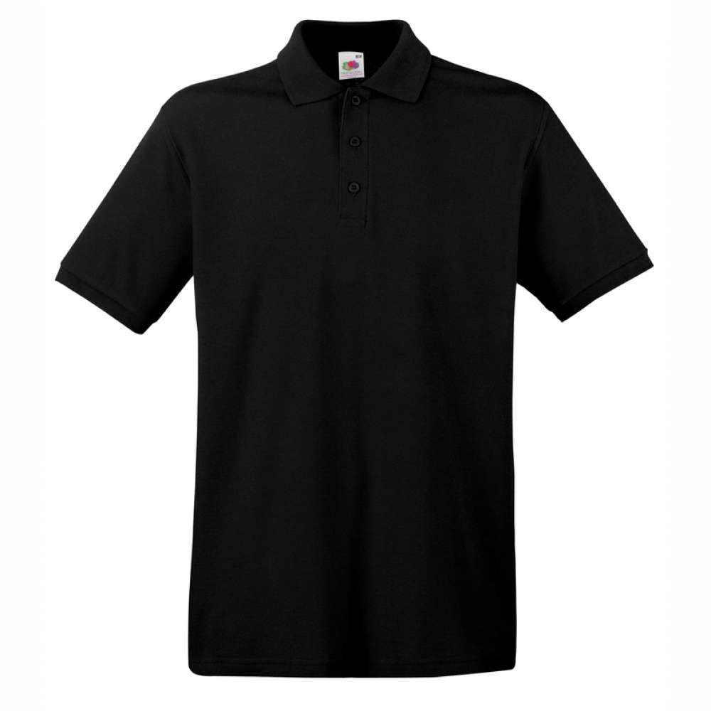 Tričko pánske Polo z 100% bavlny v čiernom