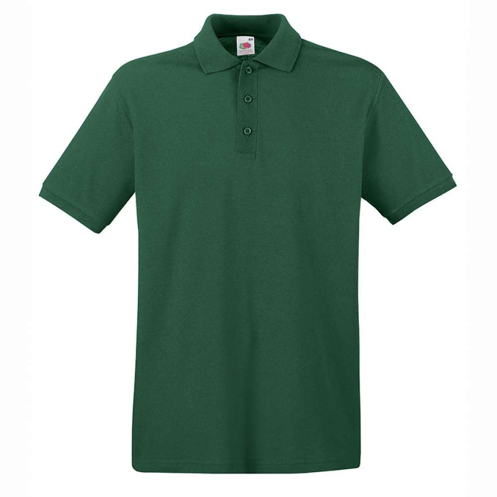 Tričko pánske Polo z 100% bavlny v tmavo zelenej farbe