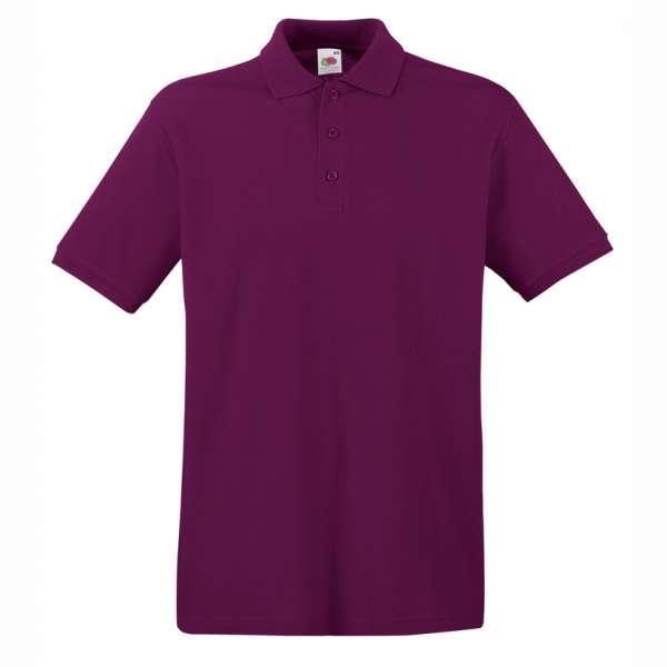 Tričko pánske Polo z 100% bavlny v čerešňovej farbe