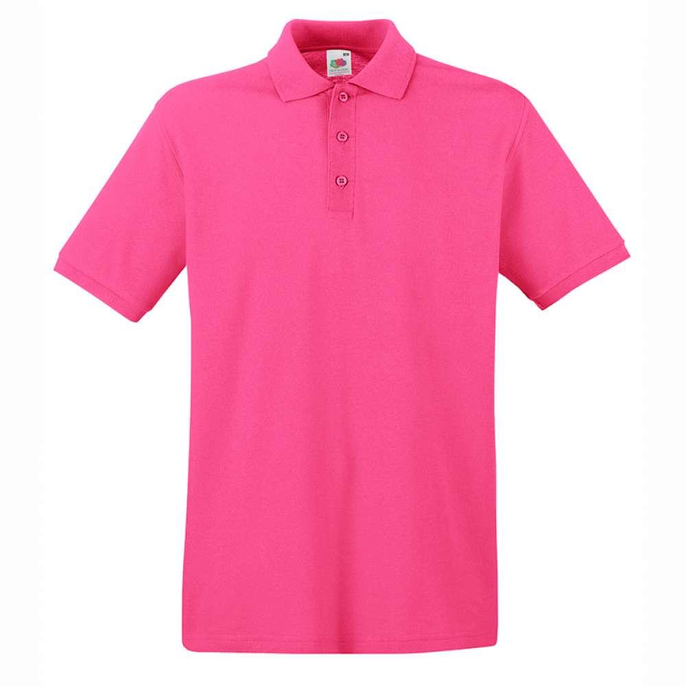 Tričko pánske Polo z 100% bavlny v ružovej farbe