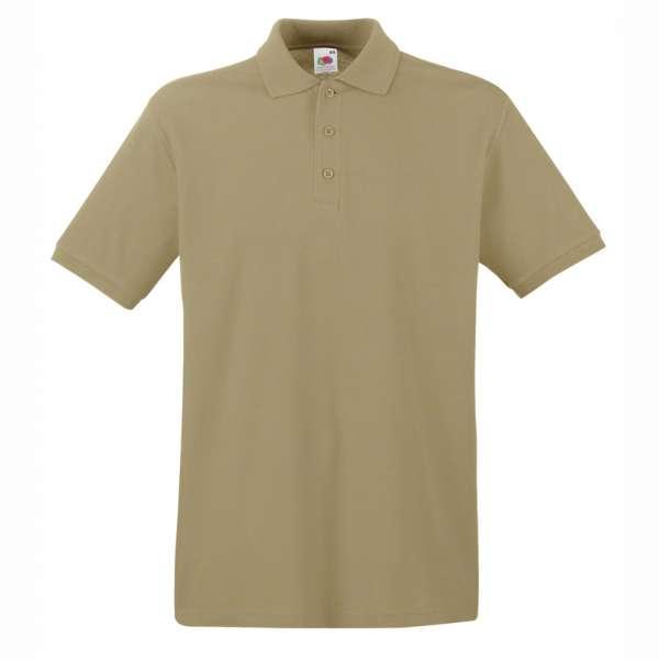 Tričko pánske Polo z 100% bavlny v khaki farbe
