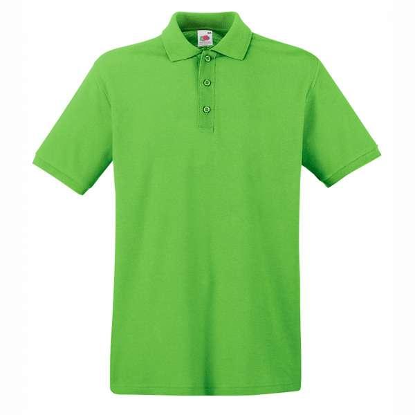 Tričko pánske Polo z 100% bavlny vo vápnej farbe