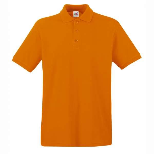 Tričko pánske Polo z 100% bavlny v oranžovej farbe