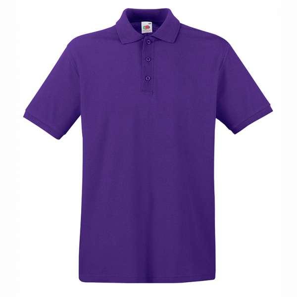 Tričko pánske Polo z 100% bavlny vo fialovej farbe