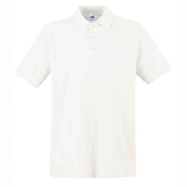 Tričko pánske Polo z 100% bavlny v bielom