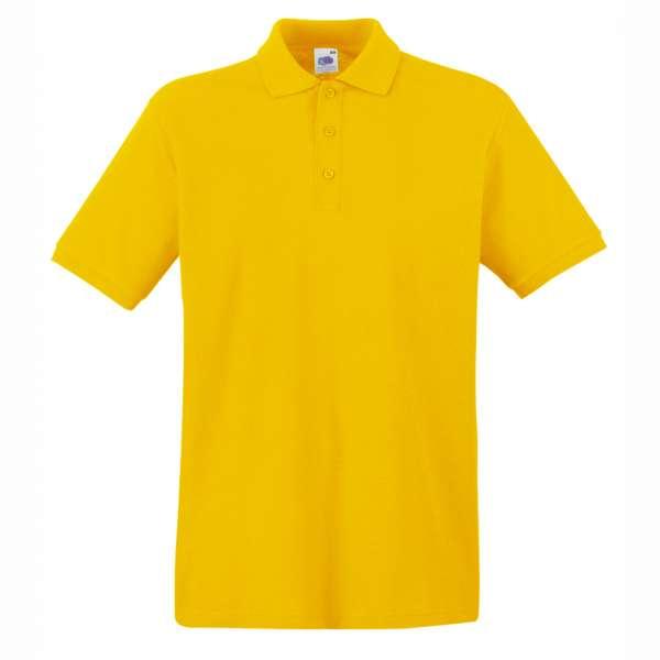 Tričko pánske Polo z 100% bavlny v žltej farbe