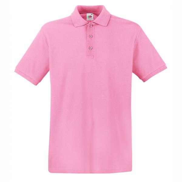 Tričko pánske Polo z 100% bavlny v svetlo-ružovej farbe