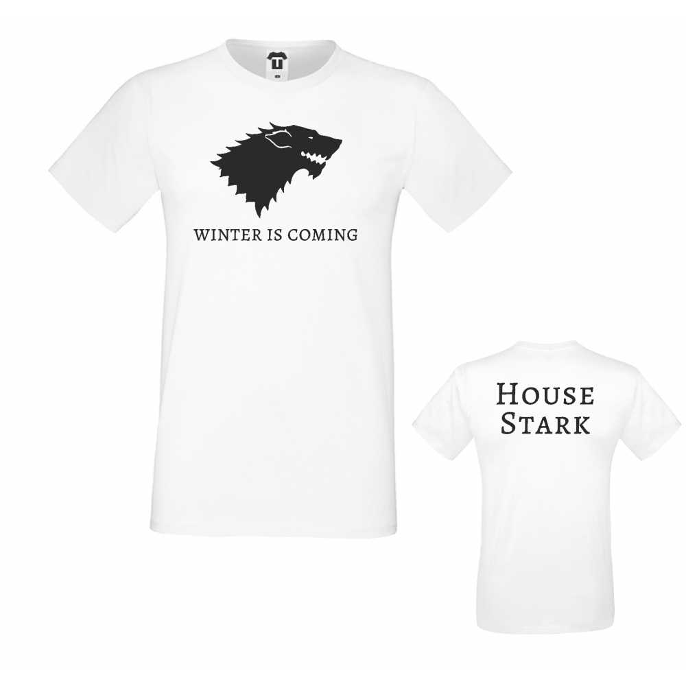 Pánské tričko Winter is Coming House Stark D-M-217