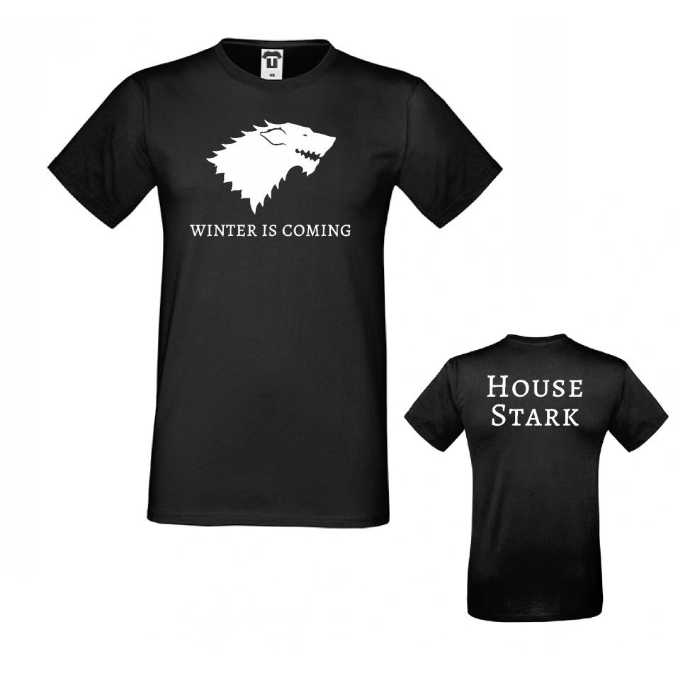 Pánské tričko Winter is Coming House Stark D-M-217