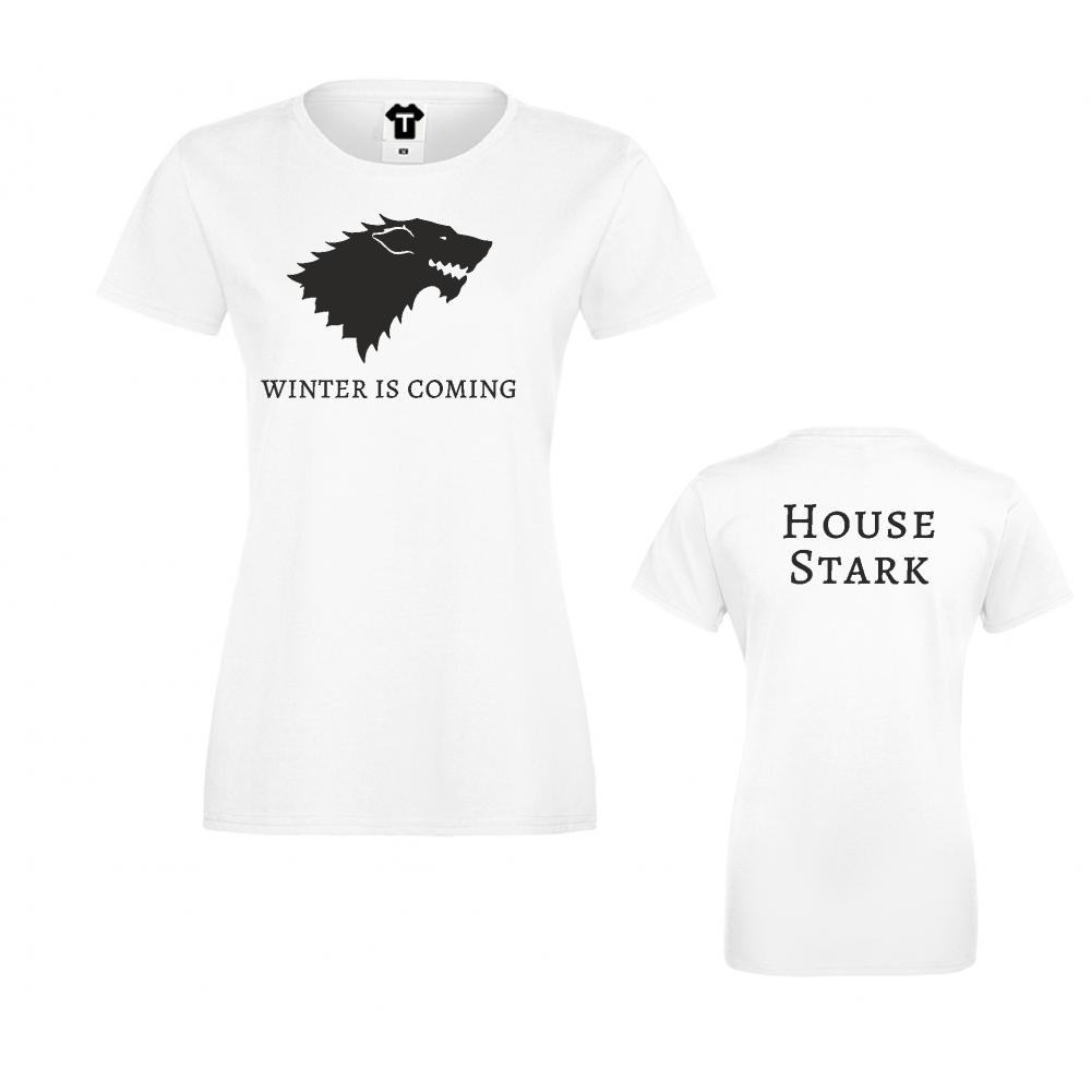 Damské tričko Winter is Coming House Stark D-W-217