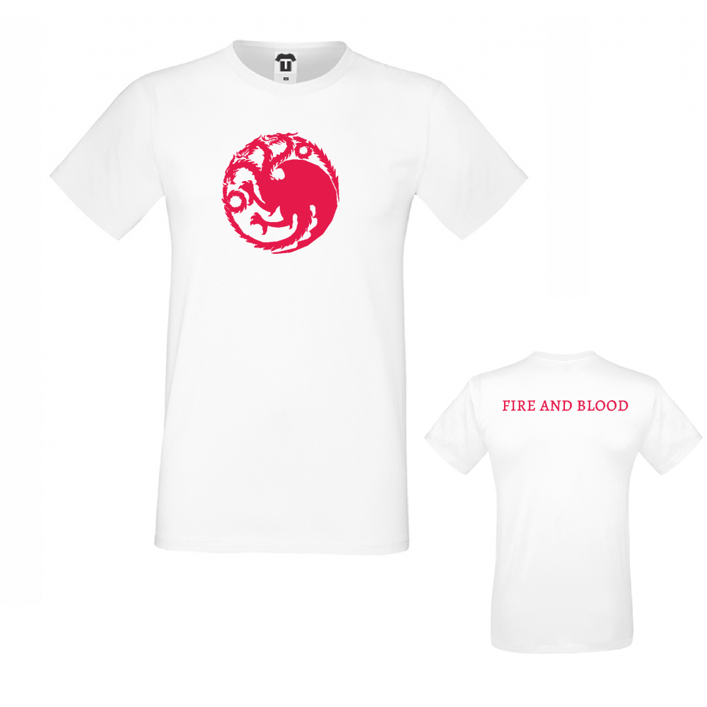 Pánské tričko House Targaryen Fire and Blood D-M-218