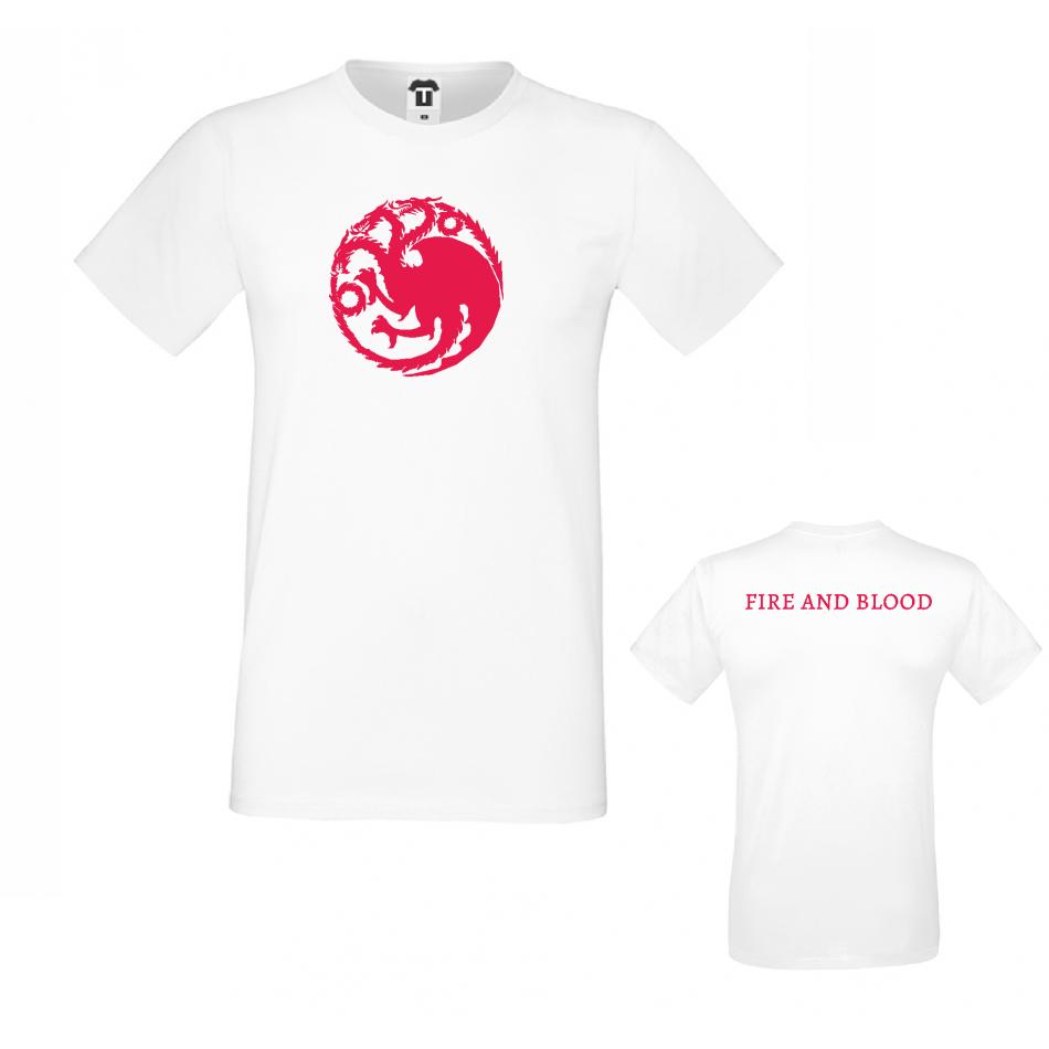 Pánské tričko House Targaryen Fire and Blood D-M-218