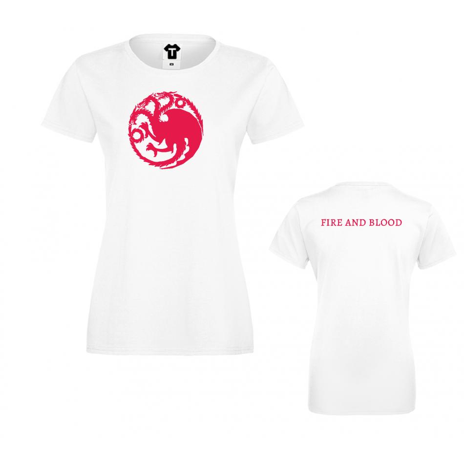 Damské tričko House Targaryen Fire and Blood D-W-218