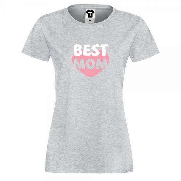 Šedé Dámské tričko Best Mom