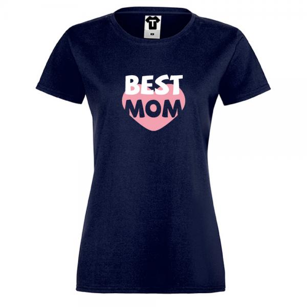 Tmavě modré Dámské tričko Best Mom