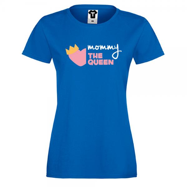 Modré Dámské tričko Mommy The Queen