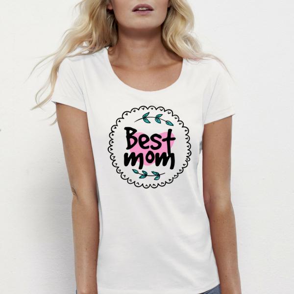 Dámské triko 100% organická bavlna Best Mom