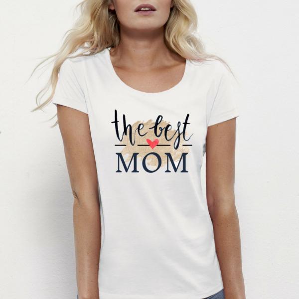 Dámské triko 100% organická bavlna The Best Mom 3