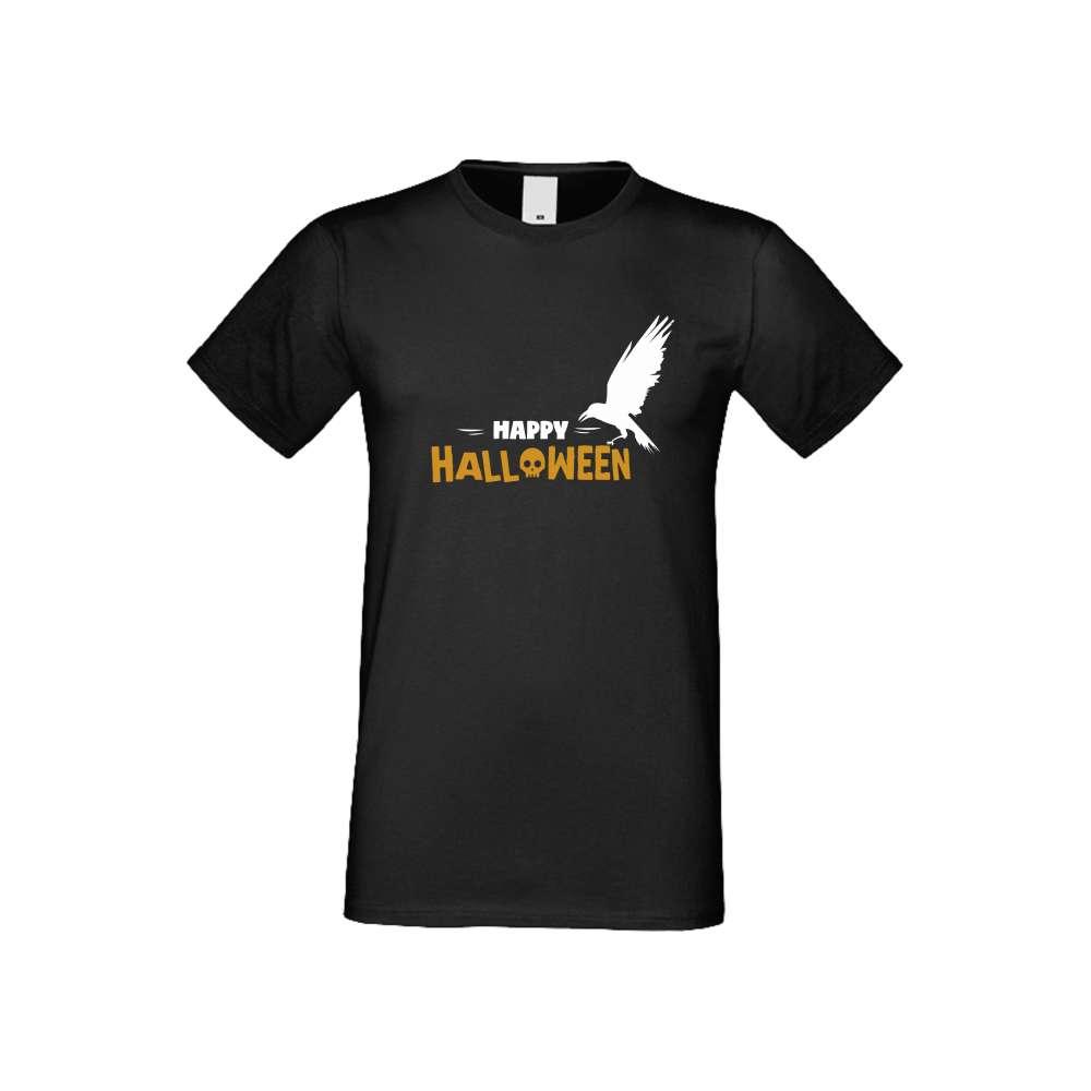 Panske tričko Happy Halloween crna S-M-164B