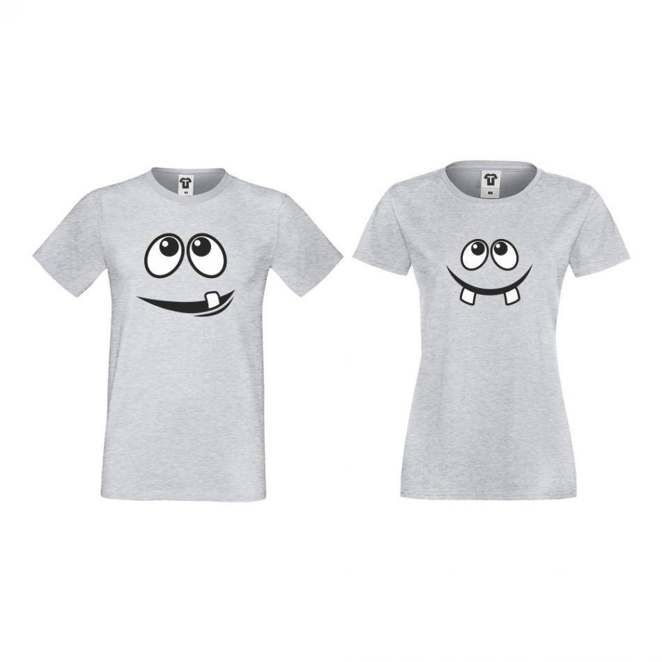 Šedé triko pro páry Smile D-CP-014G