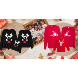 Vánoční rodinné sady triček a halenek - perfektní dárek