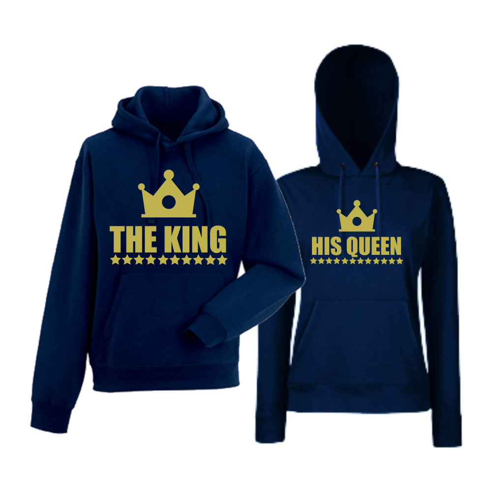 Mikiny pro páry The King - The Queen HDS-CP-002N
